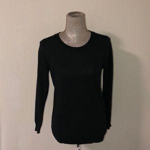 NWT J Crew Crew neck black sweater, size small